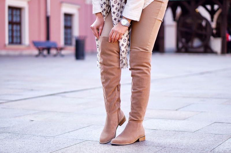 Kozaki Hannah Suede Boots Beige | OBUWIE DAMSKIE \ kozaki \ klasyczne OBUWIE DAMSKIE \ kozaki \ muszkieterki NOWOŚCI | Labotti.pl - Najprzyjemniejsze zakupy w sieci