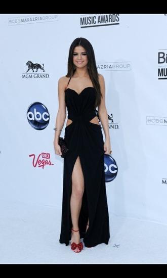 celebrity celebrity style slit dress cut-out dress