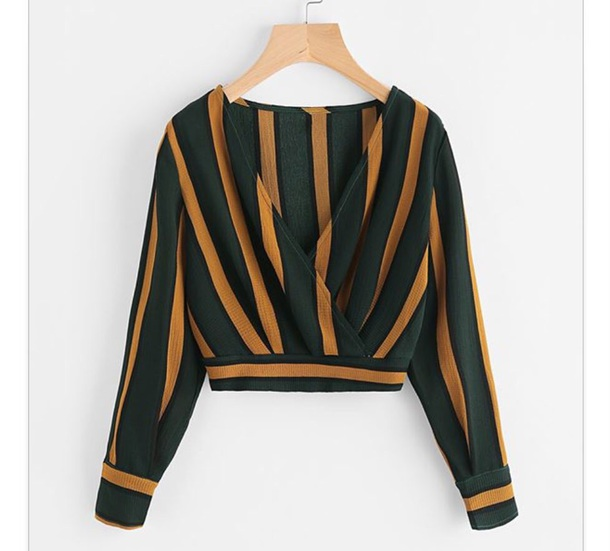 blouse forest green gold