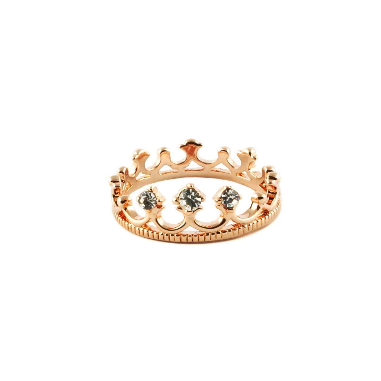 princess crown ring tiara ring