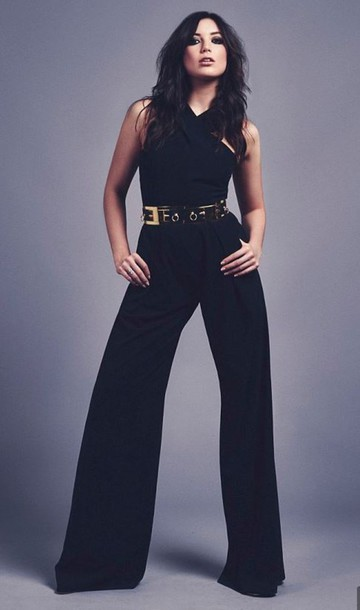jumpsuit black daisy lowe black jumpsuit