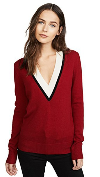 Veronica Beard sweater red