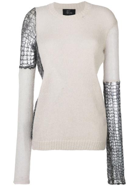 Lost & Found Ria Dunn sweater women mohair wool grey