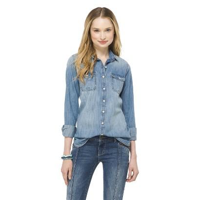 Mossimo supply co. denim button down shirt indigo