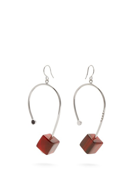 MARNI earrings red jewels