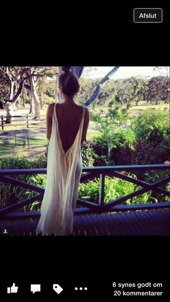 dress long white dress. open back