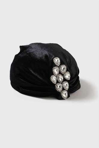 hat turban hair accessory rhinestones