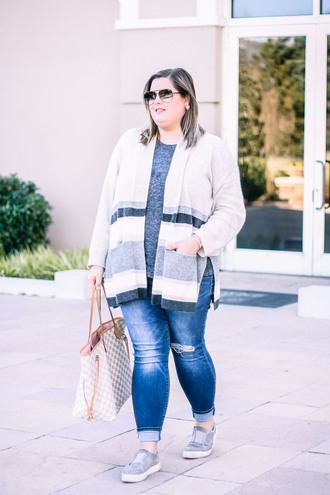 stylishsassy&classy blogger jewels sweater jeans shoes winter outfits plus size sneakers louis vuitton bag