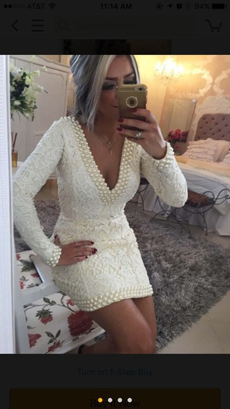 dress homecoming dress homecoming formal formal dress ivory dress lace lace dress pearl beaded beaded dress 2016 homecoming dresss homecoming dresses 2016 cocktail dress party dress sexy party dresses short homecoming dress short prom dress white prom dress semi formal dress