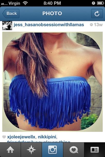 swimwear ruffle bikini swimwear wear girl instagram love this fringes