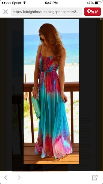 dress not sure who it's by but i want it maxi dress colorful dress