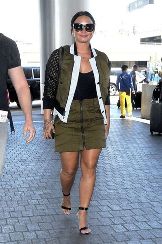 skirt top jacket mini skirt demi lovato
