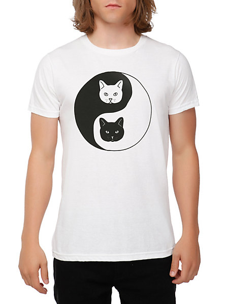 Yin-Yang Cats T-Shirt | Hot Topic