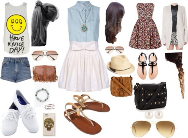 T shirt prom dress and sneakers