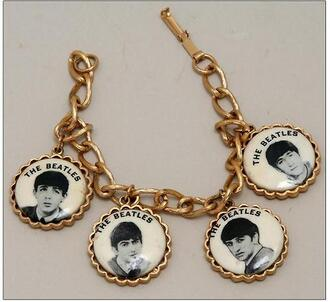 jewels bracelets gold chain beatles the beatles gold chain charm bracelet