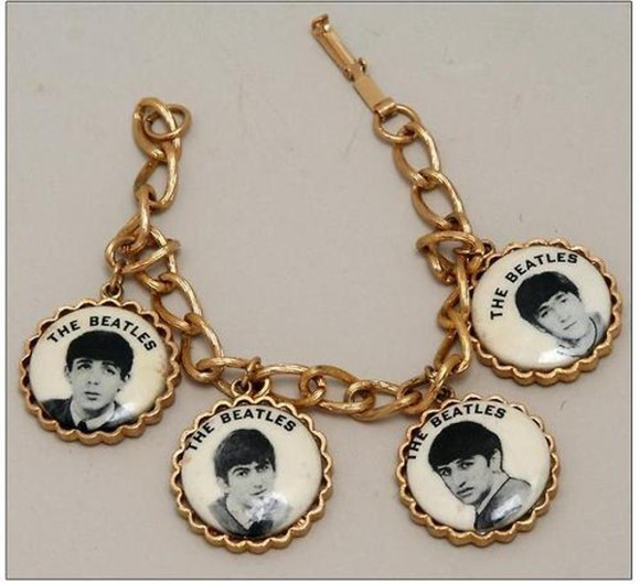 jewels charm bracelet bracelets gold chain beatles the beatles gold chain