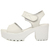 Fashion Chunky High Heel Basic White PU Sandals_Sandals_Womens Shoes_Cheap Clothes,Cheap Shoes Online,Wholesale Shoes,Clothing On lovelywholesale.com - LovelyWholesale.com