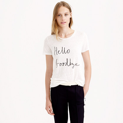 Hugo Guinness™ for J.Crew hello goodbye tee