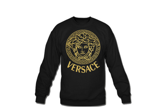 sweater black jumper versace amanda bynes