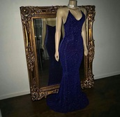 dress,royal blue,glitter dress,prom dress