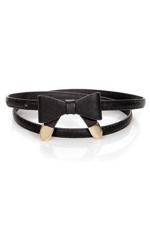 Styling Tips Skinny Black Bow Belt on Wanelo