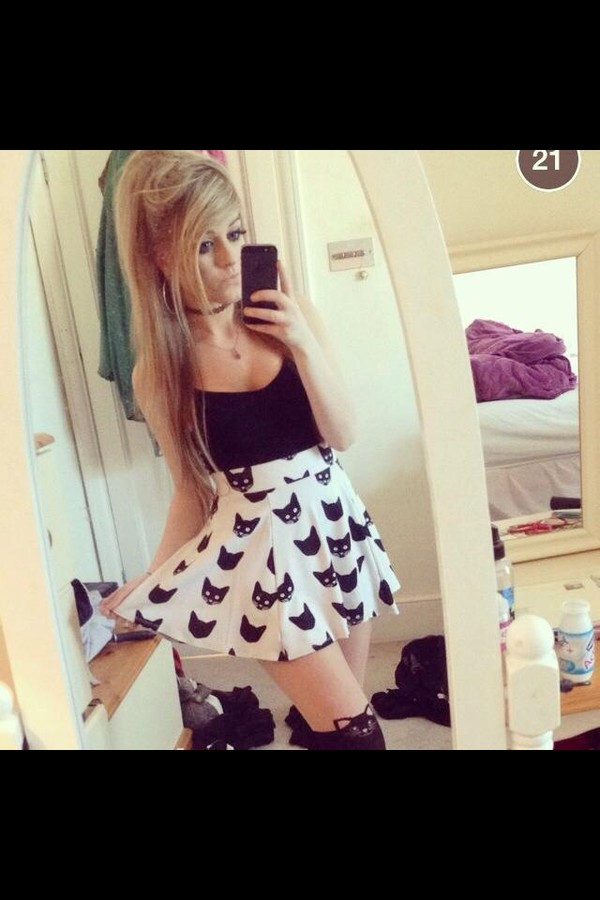 skirt marina joyce skater skirt cute cats