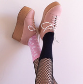 shoes,platform shoes,pink,jeffrey campbell,beautiful,beige,cute,lovely,sweet