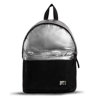 bag backpack silver bag silver backpack black and silver grey grey bag grey backpack black backpack shin shiny shiny bag girly girly backpack