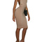 Summer women dress dark beige low cut v neck backless midi bodycon dresses sexy club dress free shipping -in dresses from women's clothing & accessories on aliexpress.com | alibaba group