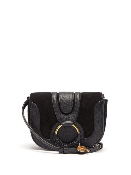 See By Chloé See By Chloé - Hana Mini Suede And Leather Cross Body Bag - Womens - Black