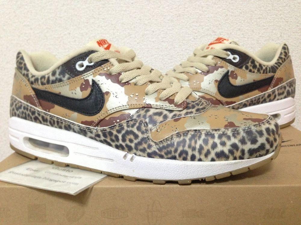 2013 Nike Air Max 1 PRM atmos Desert Camo Leopard Animal
