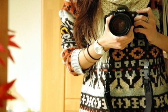 sweater ethnic girly cute