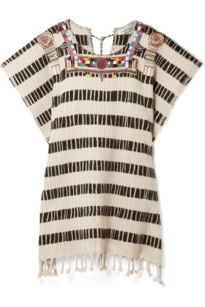 Valentino poncho embroidered beaded wool top