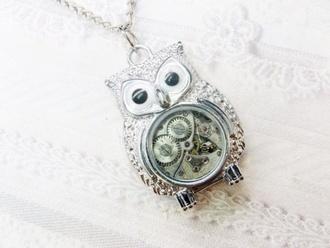 jewels steampunk jewelry owl cute