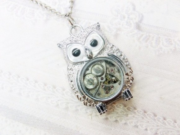 jewels owl cute steampunk jewelry