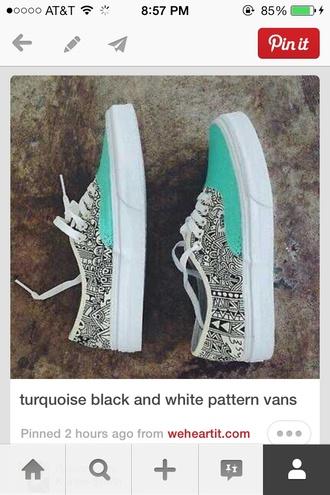 vans shoes blue shoes aztec shoes