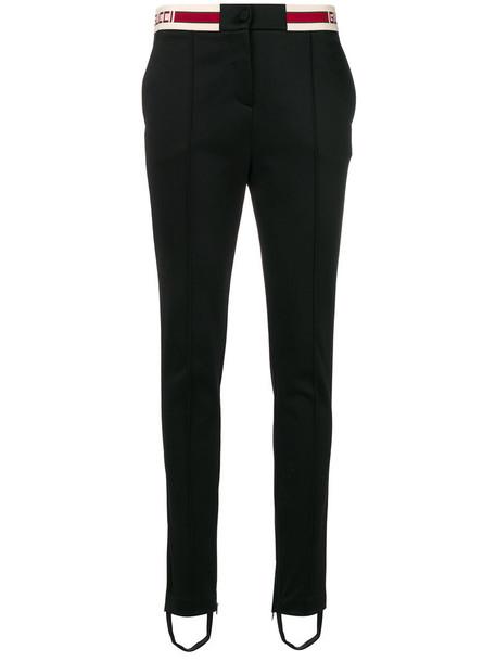 gucci women cotton black pants