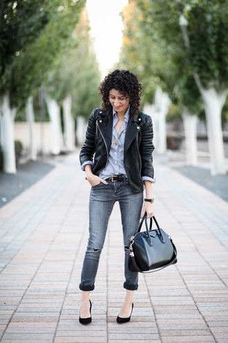 alterations needed blogger jacket shirt jeans shoes bag belt jewels