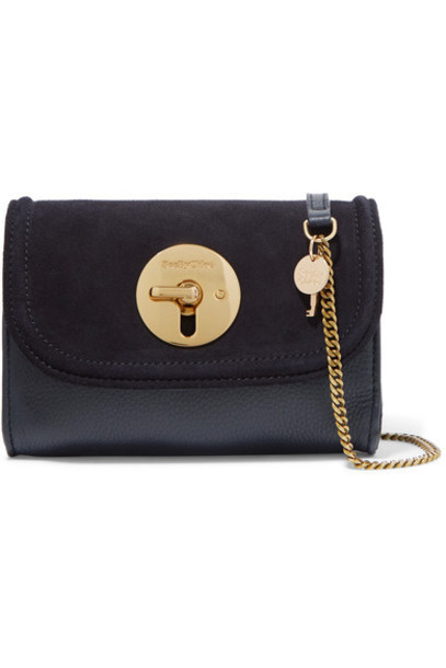 See by Chloe mini bag shoulder bag leather blue suede