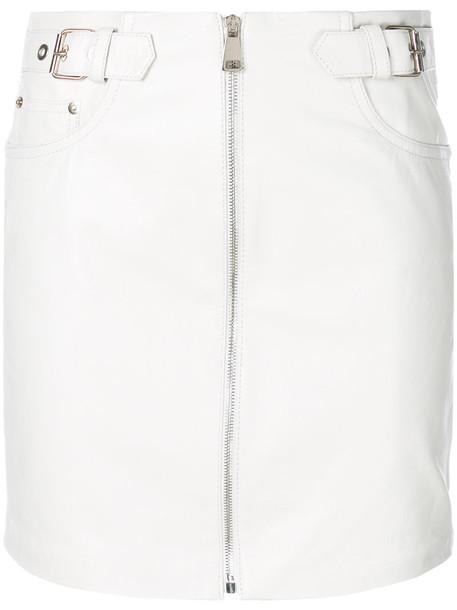 Manokhi skirt mini skirt mini women leather white