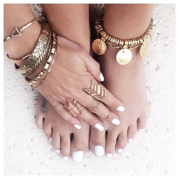 jewels anklet ring beach dress