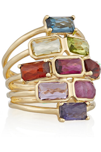 stone ring rock candy ring gold pink jewels