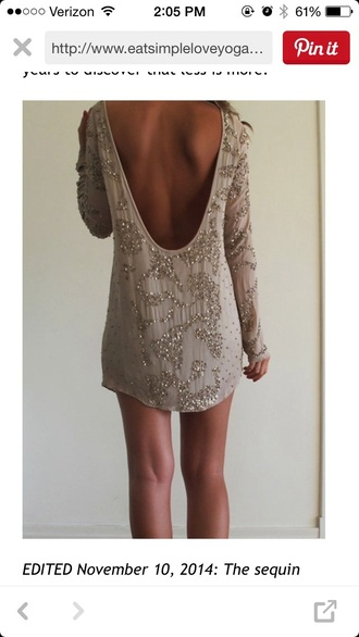 dress short dress sparkles backless