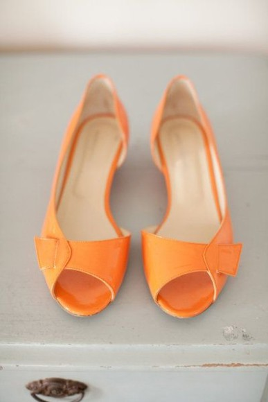 shoes orange shoes clothes: wedding