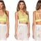 Lime bralette crop top – dream closet couture