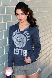 jacket,danielle campbell,blue,hoodie,clothes,athletic,casual,comfy,workout,sweater