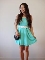 dress,tiffany blue,bows