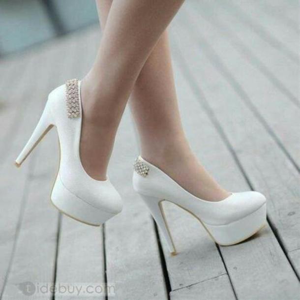 shoes hwels heels white pumps