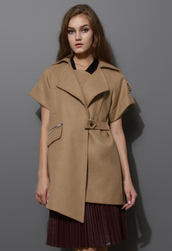 coat,camel,asymmetrical,wool felt