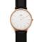 Daniel wellington sheffield 40mm watch with black leather band | east dane